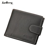 Wholesale Male Leather Card Cases - Wallet Men Leather Wallets Male Purse Money Credit Card Holder Case Coin Pocket Brand Design Money Billfold Maschio Clutch