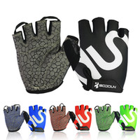 Wholesale 2016 New Weight Lifting Gym Professional Training Workout Fitness Sports Gloves Outdoor Bike Bicycle Breathable Cycling Half Finger Gloves