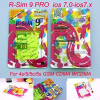 iphone r sim pro оптовых-Оригинальный R-SIM-карту 9 rsim9 с R-SIM9 Pro идеальный разблокировки SIM-карты официальный iOS 7 7.0.6 7.1 ОС iOS7 rsim 9 для Iphone 4S и 5 5s и 5С GSM CDMA и WCDMA 3G и 4G