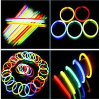 Wholesale Kids Necklaces Sale - Hot Rushed Sale 7.8 Inch Glow Stick Bracelets Necklaces Neon Party LED Flashing Light Wand Novelty Toy Vocal Concert Flash Sticks 0003CHR