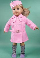 """Wholesale Dress Girls Styling - Wholesale-Free shipping!!! hot 2015 new style Popular 18 inches"""" American girl doll clothes dress Christmas gift172"""