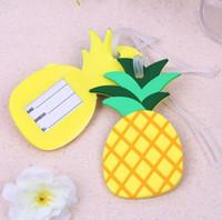 ingrosso l'acquazzone nuziale favorisce le modifiche dei bagagli-SPEDIZIONE GRATUITA (100pcs / Lot) + regalo di nozze Tag di bagaglio tag di ananas colorato tagliando Bridal Shower Favors