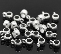 Wholesale European Bead Earrings Wholesale - 500PCs Vintage Silvers Bail Cup Spacer Beads Hanger Charms Pendant For DIY Bracelet Necklace Earrings Jewelry Making Findings Handcraft X287