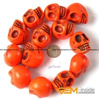 """Wholesale Dyed Howlite Beads - 24x30mm Skeleton Shape Howlite Beads Dyed Color Beads DIY Beads For Fashion Jewelry Making Strand 15"""" Wholesale !"""
