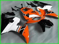 Wholesale Orange White Motorcycle Fairings - Motorcycle Fairing kit for YAMAHA YZFR6 03 04 05 YZF R6 2003 2004 2005 YZF600 yzfr6 Orange white black Fairings Set