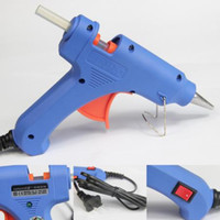 Wholesale electric heating gun - DIY Blue Electric Heating Hot Melt Glue Gun Sticks Trigger Art Craft Repair Tool
