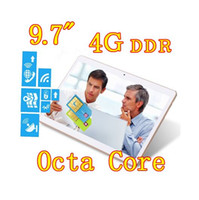 Wholesale Dual Sim Tablet Gsm - 9.7 inch 8 core Octa Cores 2560X1600 IPS DDR 4GB ram 32GB 8.0MP 3G Dual sim card Wcdma+GSM Tablet PC Tablets PCS Android4.4 7 9