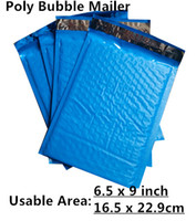 Gros-New Style [PB # 69 +] - Bleu 6.5X9inch / 165X229MM Surface utile Poly bulle enveloppes annonce capitonnée Mailing Bag Self Sealing [50pcs]