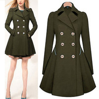 Wholesale Hooded Womens Trench Coat - Wholesale- 2017 Autumn New Plus Size Womens Coat Commuter Office OL Slim Fashion Ruffles Windbreaker Double Breasted Trench Q1536