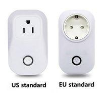 Wholesale home automation switches resale online - Sonoff S20 Long range WIFI Smart Socket US EU UK Plug Remote Control Socket Outlet Timing Switch for Smart Home Automation free DHL shipping