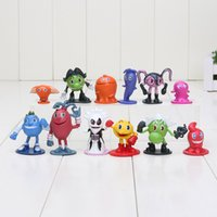 12pcs / lot Pacman Pixel Miniature Action Figures Pac-Man Ghostly Adventures economico Anime figure figurines bambini giocattoli per i ragazzi