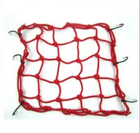 Wholesale Cargo Mesh Netting - Lowest Price FREE FEDEX Shipping 100pcs RA 40x40 CM Motorbike Motorcycle Cargo 6 Hooks Hold Down Net Bungee Helmet Web Mesh 40CM