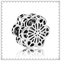 Wholesale glass cube clips - 2016 New Spring S925 Sterling Silver Floral Daisy Clip Charm Bead Fits European Jewelry Bracelets
