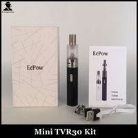 Wholesale Ego Automatic Kit - New Mini TVR30 Kit Ego Passthrough 2200mah 30W Automatic Temperature Control TVR30 Vaporizer pen Electronic Cigarette Starter Kit