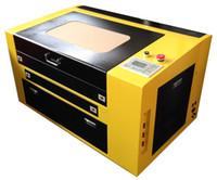 máquinas de corte por láser al por mayor-ZD-4060 60 w 400x600 mm de alto grado co2 grabado láser máquina de corte grabador de madera contrachapada