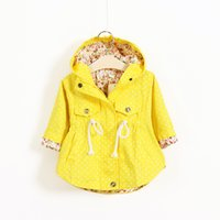 Wholesale Girls Yellow Jacket Coat - 3 Color Girl Candy color fashion hoodies coat 2015 new children warm poncho coat outwear jackets Long sleeve Solid color fashion coat B001