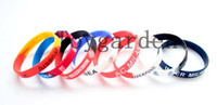 Wholesale Rubber Bracelets Free Shipping - Free Shipping 20Pcs lot Colorful Football Team Sport Club Silicone Rubber Wrist Bracelets Bangles Unisex Charm Bangles
