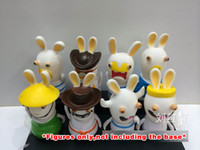 Wholesale Rayman Rabbids Toys - Rayman Raving Rabbids 8 pc bigger set PVC figure toy doll collection gift GAME