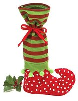 Wholesale Party Supplies Polka - Santa's Helper Christmas Decor Party Supplies Polka Dotted Candy Bags Christmas Gift Bags Shoes Design Wholesale