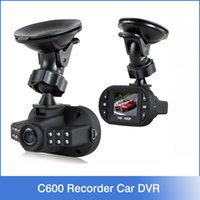 Wholesale Car Driving Video Recorder - Full HD 1080P Mini Car DVR Camera Driving Video Recorder 160 Degree G-Sensor 12 IR LED Night Vision Vehicle Dashboard Black Box C600