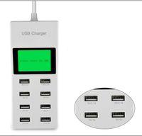 usb hub steckdose großhandel-8Port Tragbares SMART USB-Hub-Ladegerät AC-Netzteil EU-Stecker Slots Ladebuchse Steckdose mit Switcher