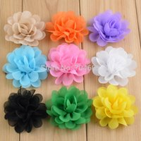 Wholesale Trail Order - Trail Order 2'' Mini Fabric Chiffon Flowers For Infant Girls Kids' Hair Accessories Baby Headbands DIY Gift 100Pcs lot