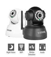 Wholesale Wireless Ir Webcam - New Wireless IP Camera WIFI Webcam Night Vision(UP TO 10M) 10 LED IR Dual Audio Pan Tilt Support IE S61