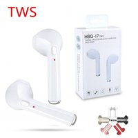 Wholesale Original HBQ i7 TWS Twins True Wireless Earbuds Earphone Mini Bluetooth V4 DER Stereo Headset Sports Headphone For iPhone X Galaxy S8