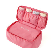 Wholesale Travel Bras Zippers - 100% Brand New Travel Bra Underwear Lingerie Organizer Cosmetic Makeup Toiletry Wash Storage Case Bra Bag