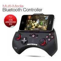 Wholesale Joypad Ipad Games - PG 9025 Gaming Bluetooth Controller Gamepad Joystick Joypad For iPhone iPad Samsung HTC Moto Android Tablet PCS Game Black White