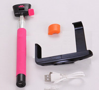 Wholesale Camera Telescopic Monopod - Bluetooth self timer pole for mobile phone,The most sell Camera Handheld Extendable Monopod Selfie Stick NEW Telescopic 50pcs lot