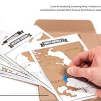 Wholesale Best Sale Europe - Factory Hot Sale Deluxe Travelogue Scratch Map Traveler Log Tourist Maps Notebook Best Travel Gift for Backpackers Free DHL XL-385