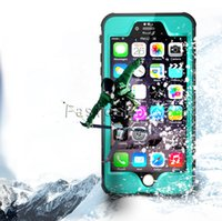 Wholesale Armor Series Iphone - Redpepper Dot Series Waterproof Case Diving Underwater Watertight Cover For iPhone 6 6S Hard PC+TPU Hybrid Armor Cover for iphone 6S Plus