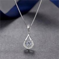 Wholesale Womens Stainless Steel Heart Necklace - Popular Fashion Pendant s925 sterling silver cultured heart-shaped necklace jewelry for womens