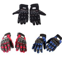 Wholesale New Bike Bicycle Motorcycle - Motorbike Racing Gloves Motorcycle Men New Racing Bike Bicycle MTB Cycling Full Finger Protective Gloves Black Red Blue H8638Z