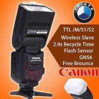 eos mark ii al por mayor-Triopo TR-586EX C Flash TTL inalámbrico Speedlite para Canon EOS 5D Mark II 5D3 7D 6D 70D 650D 5DIII 5D II 60D como YONGNUO YN565EX II