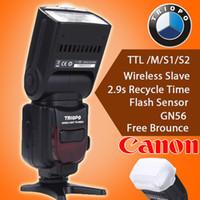 Wholesale Ttl Flash Speedlite Yongnuo Yn565ex - Triopo TR-586EX C Wireless TTL Flash Speedlite for Canon EOS 5D Mark II 5D3 7D 6D 70D 650D 5DIII 5D II 60D as YONGNUO YN565EX II