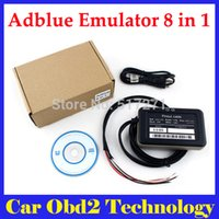 Wholesale Adblue Emulator Volvo - 5PCS Lot Truck Adblue Emulator 8 in 1 V3.0 super quality adblue 8 in 1 with Programing Adapter Truck Adblue Emulator by DHL Free