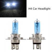 Wholesale Xenon Lights H4 - New product 2Pcs 12V 100 90W H4 Xenon HID Halogen Auto Car Headlights Bulbs Lamp 5000K Auto Parts Car Lights Source Accessories
