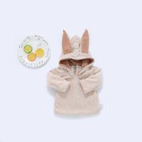 Wholesale Cute Hoodie Ears - 2017 NEW Cute Baby Girl Boy 3D Rabbit Ear Solid Color Velvet Thinken Warm Hoodie Toddler Long Sleeve Coat Kids Zipper Back Open Outwear