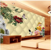 Fabric painted black video - Papel de parede Chinese painting d video wall non woven wallpaper wall sticker costomize size