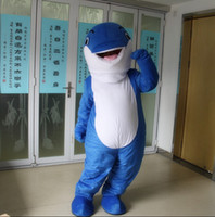Wholesale Adult Dolphin Costume Blue dolphin Mascot Birthday Party Fancy Dress