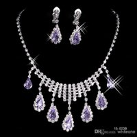 Wholesale Cheap Stone Necklaces - 2017 Cheap New Styles Statement Necklaces Pearl Sets Bridesmaids Jewelry Lady Women Prom Party Fashion Jewelry Earrings 15003B