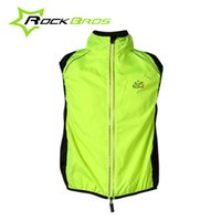 Wholesale Tour France Vests - ROCKBROS Tour de France Cycling Sportswear Men Jerseys Cycle Clothing Windcoat Breathable Bike Jacket Sleeveless Vest 4 Colors