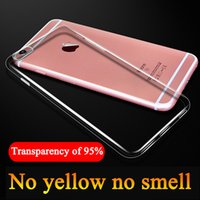 Wholesale Shockproof Silicone Case Cover - Ultra Thin Clear Case Shockproof Transparent For IPhone X 8 7 6 Plus Case Samsung S8 S7 Edge TPU Silicone Soft Cover