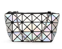 Wholesale new beauty online - New Fashion womens cosmetic bag Geometric Folding Lingge Bag make up bags for ladies beauty bags