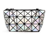 falten sie taschen großhandel-New Fashion Womens Kosmetiktasche Geometric Folding Lingge Bag bilden Taschen für Damen-Kosmetiktaschen