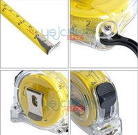 Wholesale Taiwan Tool Brands - Wholesale-SunRed BESTIR taiwan brand excellent 5*19mm yellow metric steel retractable measure tape building tools NO.01574 freeshipping