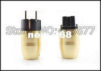 Wholesale Eur Power Plug - HI Fi Rhodium Plated EUR power cable plug EU schuko power plug pair