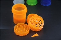 Wholesale Factory Direct Medical - KKDUCK New Arrival! Medical Pill Box Plastic Herb Grinder Tobacco Acrylic Spice Crusher Grinder Factory Direct Sales Hot Selling Cheap